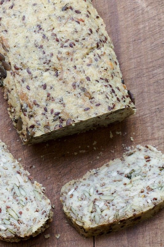 Pain express sans farine, aux flocons de millet et graines (vegan) - Au Vert avec Lili