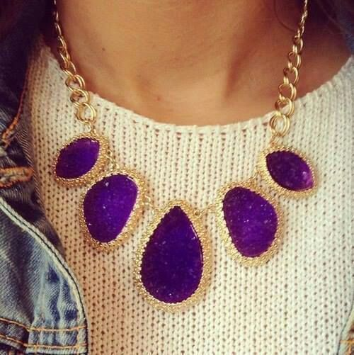 necklace and necklaces purple statement