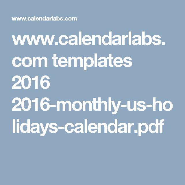 www.calendarlabs.com templates 2016 2016-monthly-us-holidays-calendar.pdf