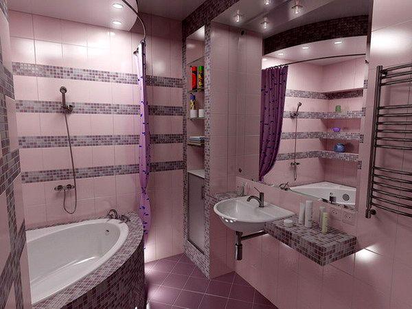 project58-pink-n-lilac-bathroom роза,сирень,вишня