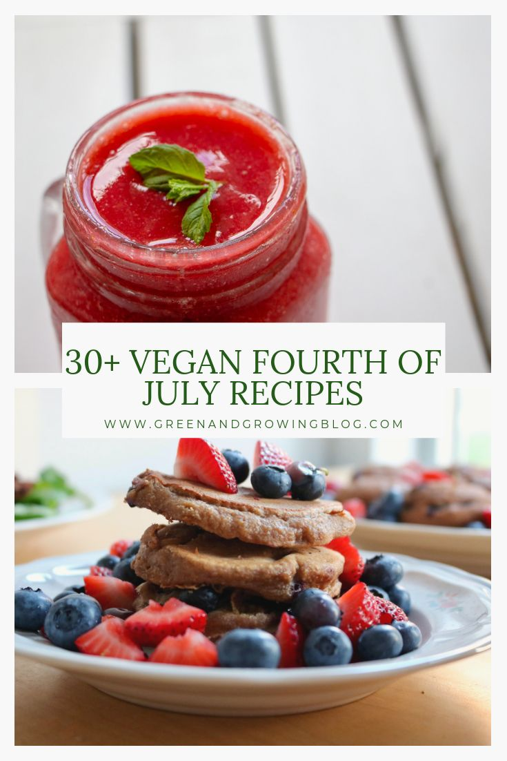 If you're looking for Fourth of July party food, you'll love these vegan Fourth …