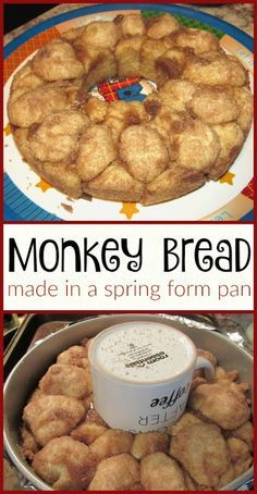 How to make monkey bread in a spring form pan-- plus a yummy recipe!