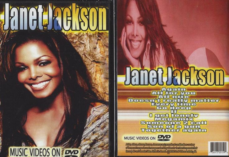 Janet Jackson Again Go Deep Greatest Hits Music Videos New & Sealed Promo DVD