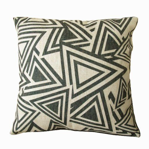 NAVA Nw 17' Black White Triangle Art Morden Decorative Pillow Case Cushion Cover Sham NAVA http://www.amazon.com/dp/B00ECSDAMG/ref=cm_sw_r_pi_dp_IfOStb100101XXH2