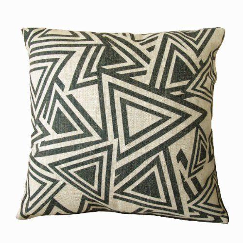 NAVA Nw 17' Black White Triangle Art Morden Decorative Pillow Case Cushion Cover Sham NAVA http://www.amazon.com/dp/B00ECSDAMG/ref=cm_sw_r_pi_dp_IfOStb100101XXH2