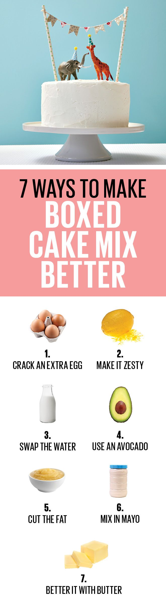 Take your store-bought cake mix to the next level with these easy hacks.