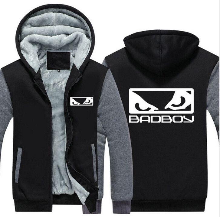 NEW USA Size MMA Badboy Bad Boy Men Hoodies Coat Winter Fleece Thicken Unisex Sweatshirts Jacket