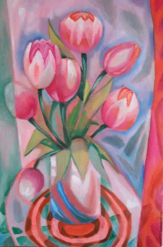 Картины цветов ручной работы. Ярмарка Мастеров - ручная работа. Купить А сколько музыки в цветах. Handmade. Бледно-розовый