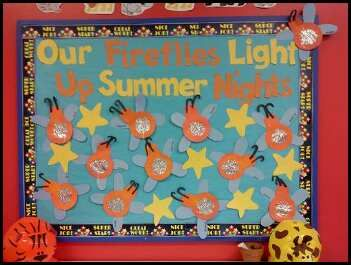 Preschool Summer Firefly Bulletin Board Idea