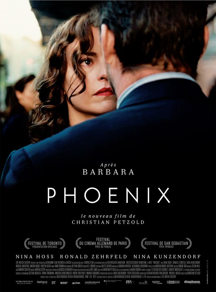 "Phoenix (Germany, 2014) After WW2, a concentration-camp survivor whose disfigured face had reconstructive surgery, finds her husband in Berlin, who doesn't recognize her. But he sees a resemblance and asks her to impersonate her own self in order to get to her inheritance. Adapted from the same book as the 1965 film ""Return from the Ashes,"" this is a game of disguise and deceit while a woman desperately tries to resurrect her past self and life. The ending is brilliant. 3.5 stars"