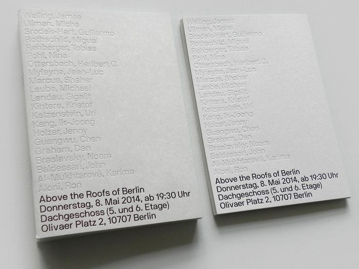 "apexministry: ""Above the Roofs of Berlin"", exhibition catalogue designs by Berlin-based Neubau. http://neubauberlin.com/"