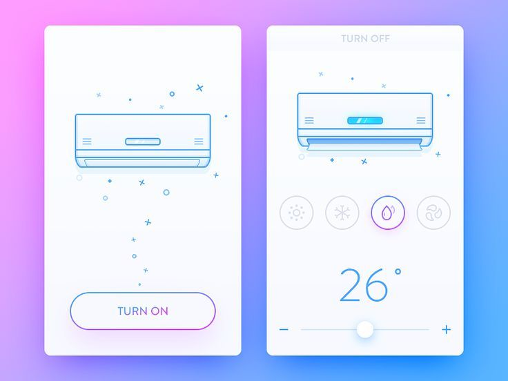 Daily UI #25 It's a Air-conditioning system app. Summer is coming. Smart home has been very popular now, I want to put the illustrations, animation, illustration differences as well as the equipm...