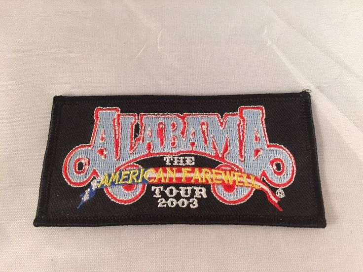 ALABAMA The American Farewell Tour 2003 Embroidered Iron On Patch Country Band #AlabamaBand #CountryMusic