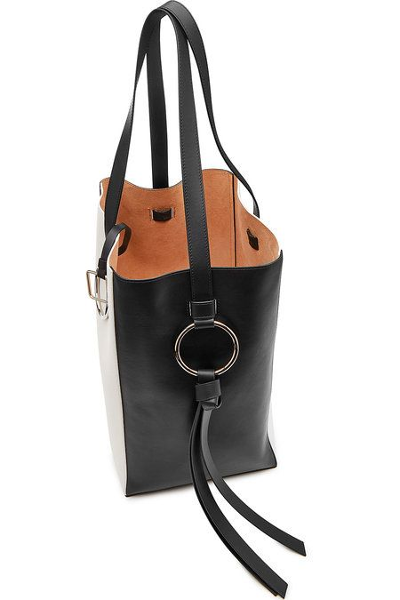 5ff526a2a3 Totem Two-Tone Leather Tote
