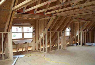 dormers on houses inside | Inside dormer framing