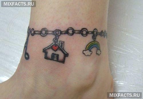 татуировки браслетом дом