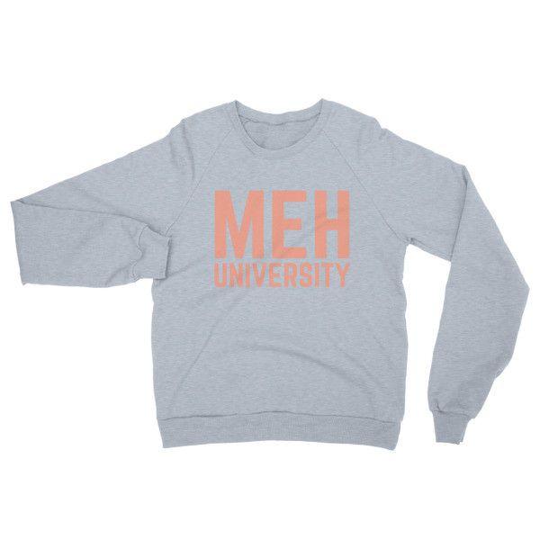 MEH UNIVERSITY CORAL - Unisex Raglan pullover sweater