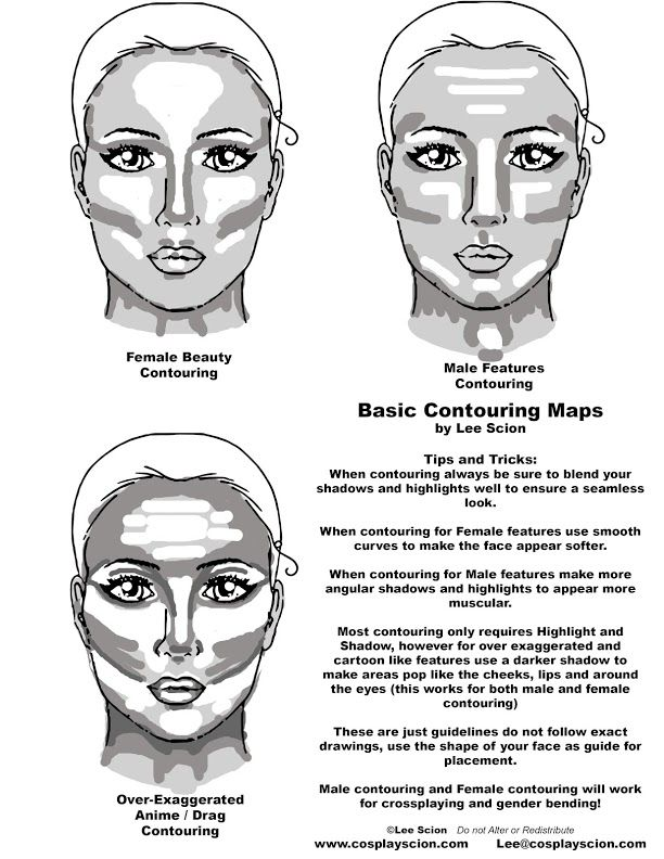 Basic Makeup Contouring by The-Cosplay-Scion on DeviantArt