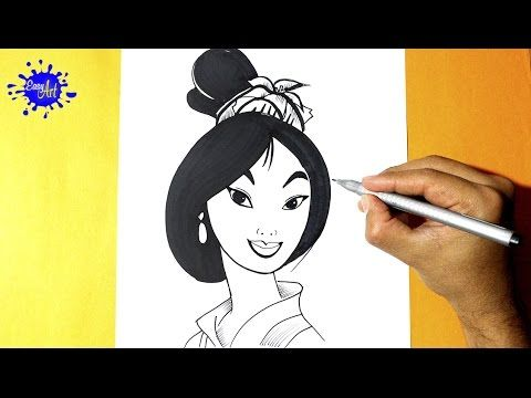 Como dibujar a Mulan l How to Draw mulan l Como dibujar una princesa  YouTube