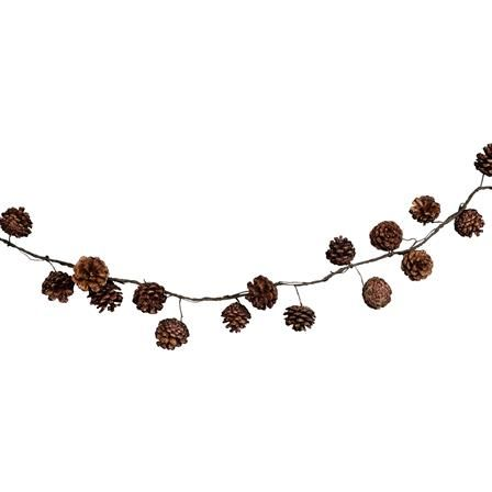 Gisela Graham Cone/Wire Garland, Natural
