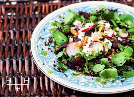 beetroot and black quinoa salad