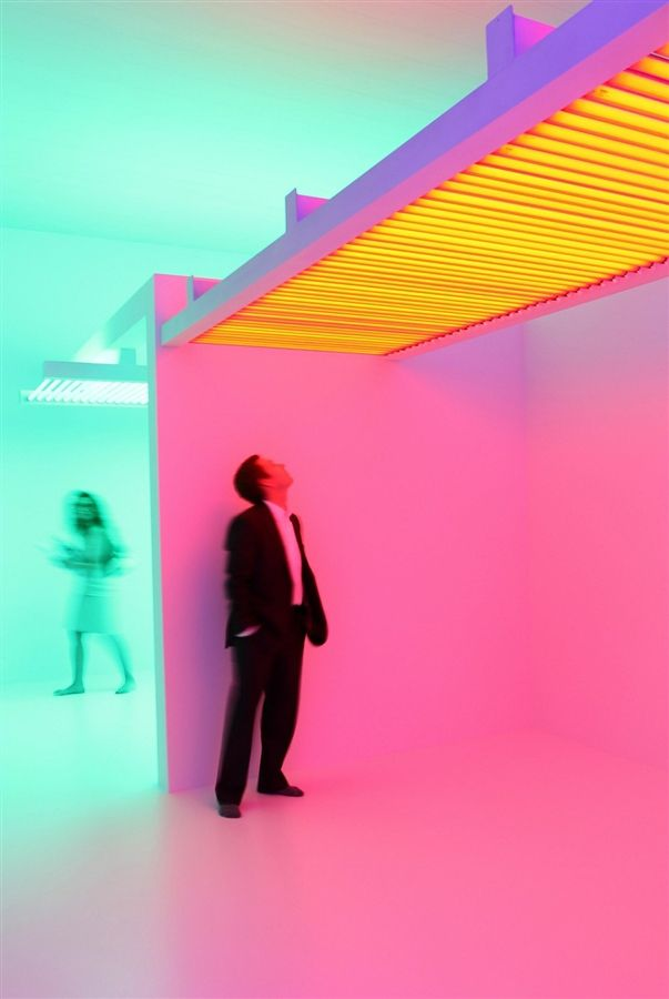 Experiments in lights, color, and space at The Museum of Contemporary Art , Los Angeles. - Photos