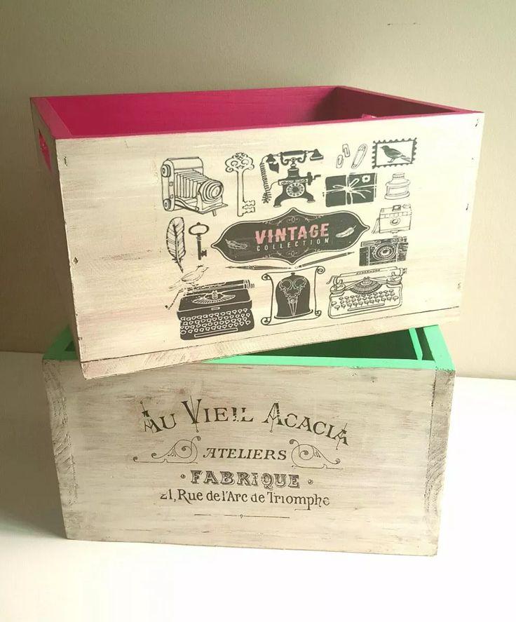 cajones vintage de madera