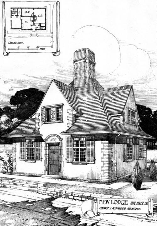 1906 - New Lodge, Ryde House, Isle of Wight - Architecture of Isle of Wight - Archiseek.com
