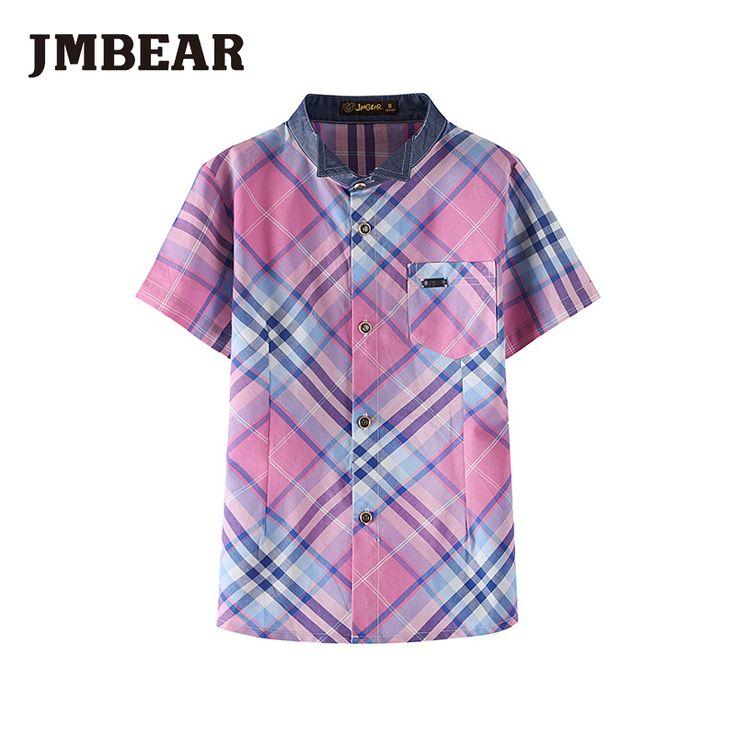Giá rẻ Jmbear chàng trai thương hiệu sọc áo mùa hè thời trang quần áo trẻ em 100% phong cách học cotton, Mua Chất lượng Áo sơ mi trực tiếp từ Trung Quốc nhà cung cấp: