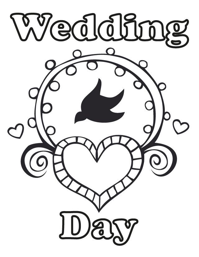 17 wedding coloring pages for kids who love to dream about their big day wedding day - Printable Fun Sheets