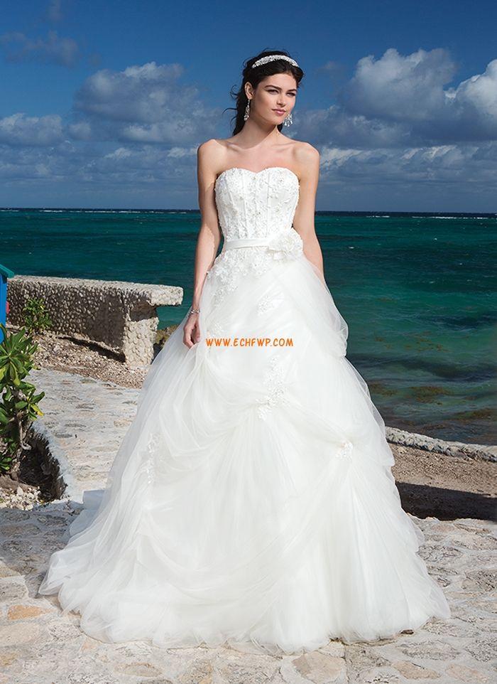 Sablier Tulle Appliques Robes de mariée pas cher