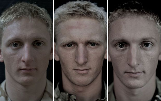 "2nd Lt. Adam Petzsch profiled in ""We Are Not The Dead"" soldiers' faces before, during and after serving in Afghanistan by Lalage Snow. http://www.telegraph.co.uk/news/picturegalleries/uknews/9013365/We-Are-Not-The-Dead-soldiers-faces-before-during-and-after-serving-in-Afghanistan.html"