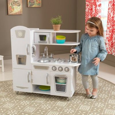 Young Chefs Are Sure To Love Cooking Up Fun With Our Adorable Kidkraft White Vintage Play Kitchen This Has Doors That Open And Close