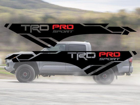 Tundra Trd Pro >> TRD 4x4 PRO Sport Off Road Side Vinyl Stickers Decal fit ...
