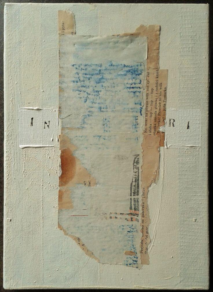 INRI, oil, mixed media on canvas, 2015/2016, M.Daniec