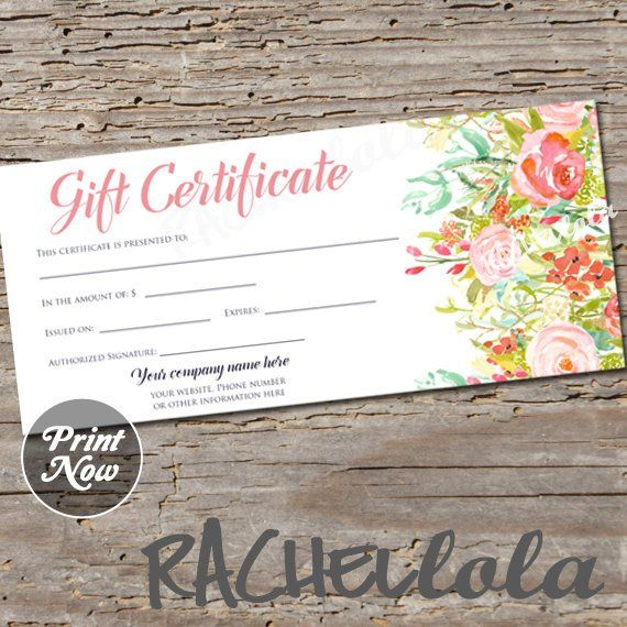 This Item Is Unavailable Etsy Printable Gift Certificate Certificate Templates Gift Certificate Template
