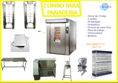 Equipo Para Panaderia Y Pasteleria Hornos Rotativos