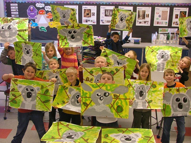 Art with Mrs. Seitz: 1st Grade - Koalas, too cute!