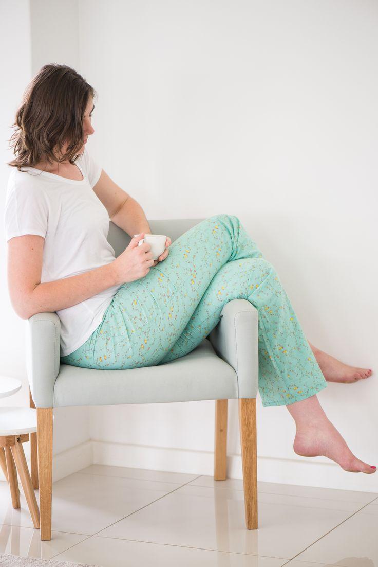 Cozy PJ Bottoms in summer green  (Clothing for tall women in South Africa. Shop online: www.lovelonglength.co.za)