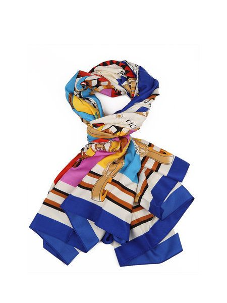 Shop Scarves - Blue Casual Silk Animal Print Scarf online. Discover unique designers fashion at StyleWe.com.