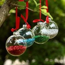 Resultado de imagen para decoracion de arboles de navidad con adornos transparentes