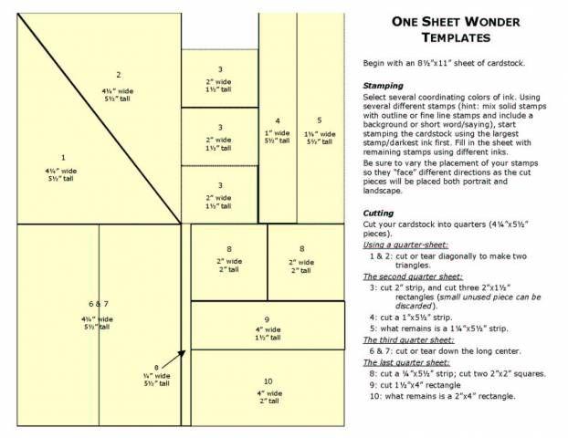 One Sheet Wonder Template