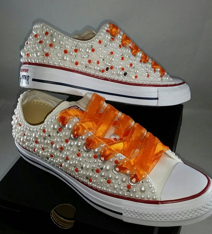 Bridal Converse- Wedding Converse- Bling & Pearls Custom Converse Sneakers- Personalized Chuck Taylors- All Star Converse Sneakers- Bride by DivineUnlimited on Etsy https://www.etsy.com/listing/485103865/bridal-converse-wedding-converse-bling