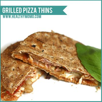 healthy momo: Recipe: Healthy Pizza Thins