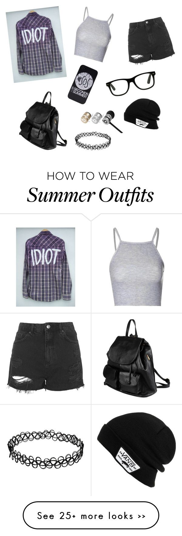"""5sos concert outfit"" by zoey-5sos on Polyvore featuring Glamorous, Topshop, PARENTESI, Beats by Dr. Dre and Vans"