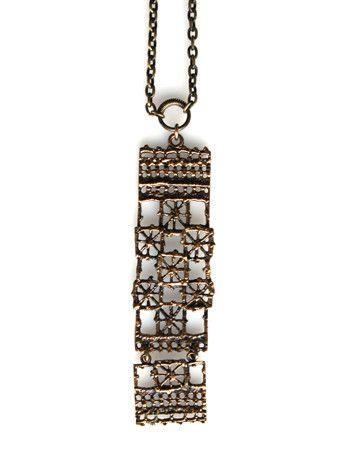 """Pentti Sarpaneva, Vintage """"Pitsi"""" (Lace) Kinetic Bronze Pendant, 1970's."""