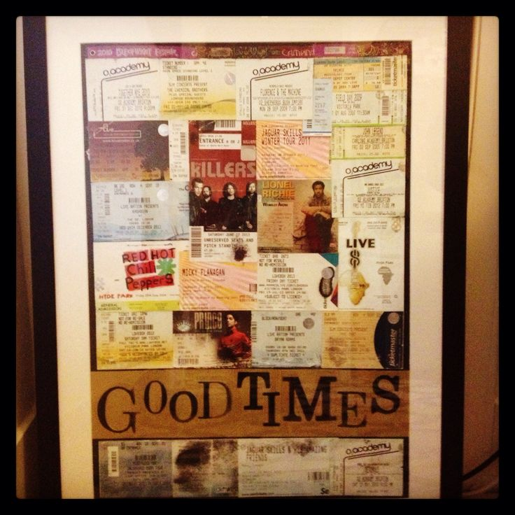 16 best Gifts images on Pinterest | Concert ticket display, Ticket ...