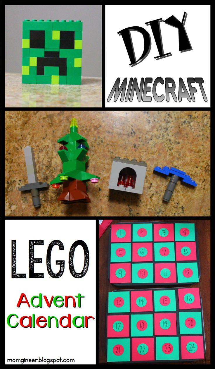 DIY Minecraft LEGO Advent Calendar (Minecraft Christmas countdown) | momgineer