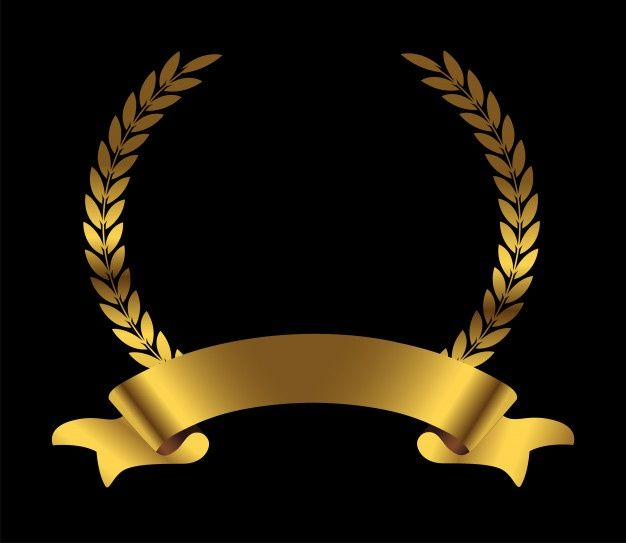 Gold Laurel Wreath With Ribbon Logo Design Art Gold Laurel Wreath Laurel Wreath