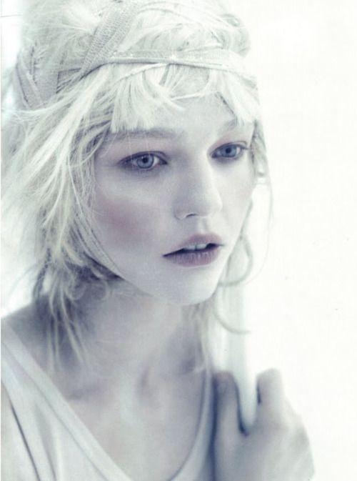 Winter fairy face  bienenkiste:Sasha Pivovarova by Paolo Roversi
